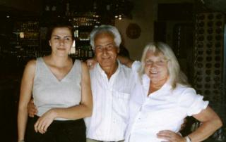 Eugenia (owner of Colombos), Carlos & Ellie (right).