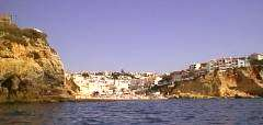 Carvoeiro from sea side.